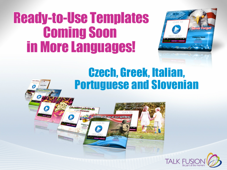 Talk Fusion Templates in greek czech portugese italian