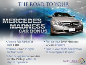 Talk Fusion Mercedes Madness Car Bonus